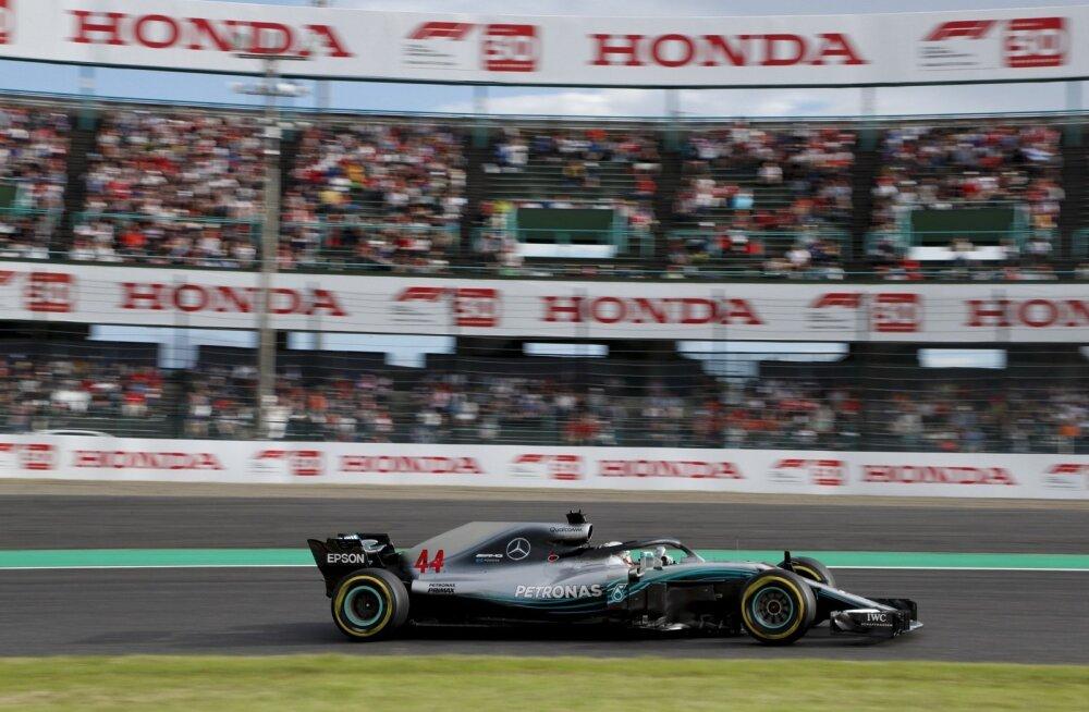Lewis Hamiltoni juhitud Mercedes Suzuka ringrajal