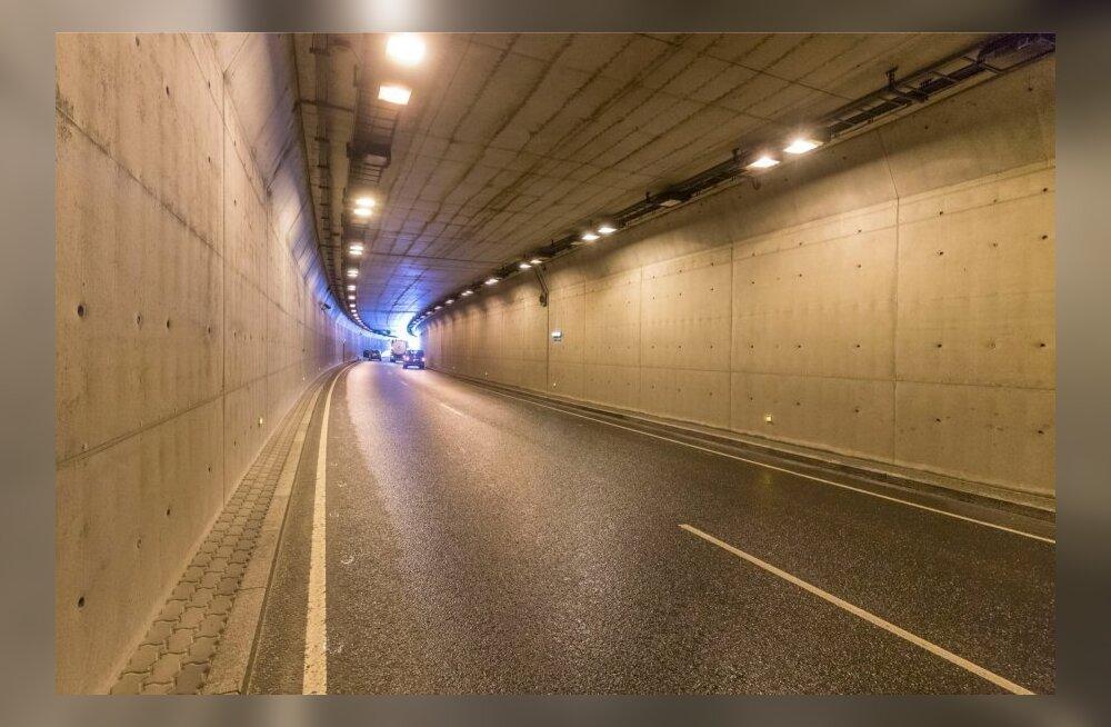 До праздников проезд по туннелю Юлемисте в направлении Петербургского шоссе по ночам будет закрыт