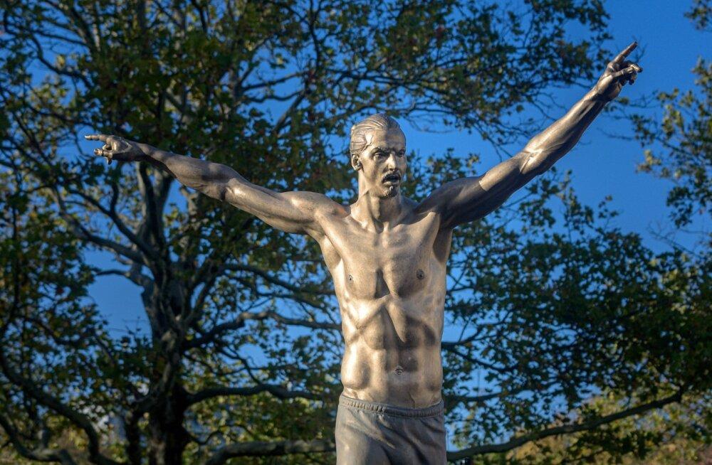 Skulptuur Zlatan Ibrahimovicist.