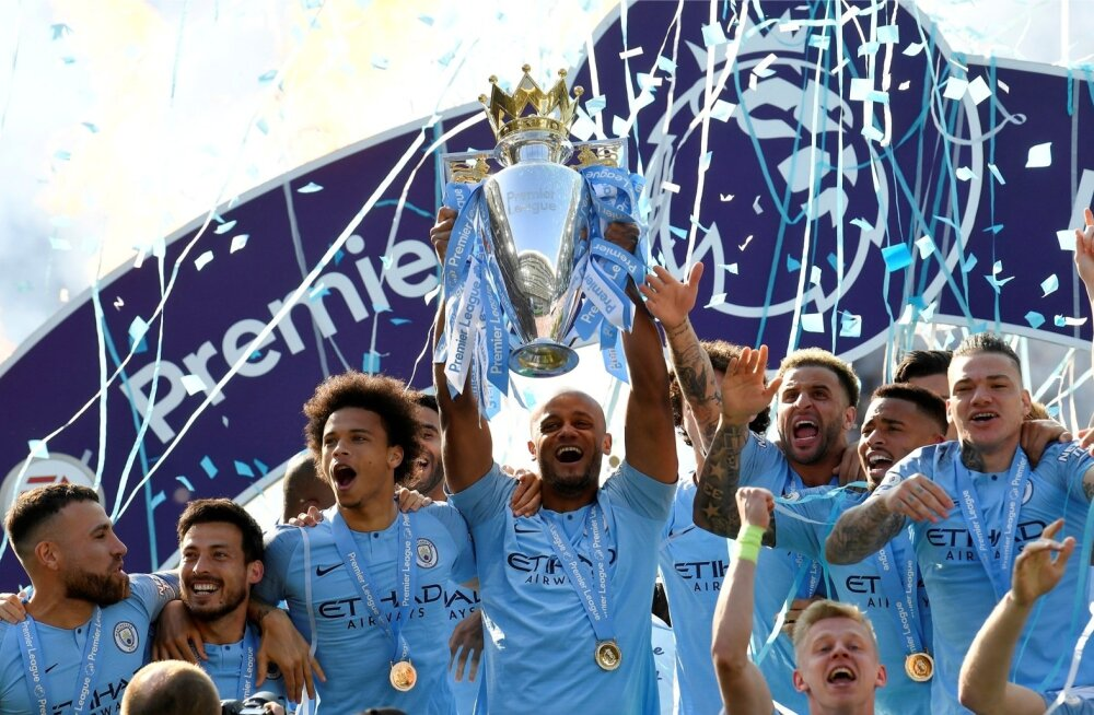 Manchester City kerkis kuuendat korda Inglismaa meistriks.