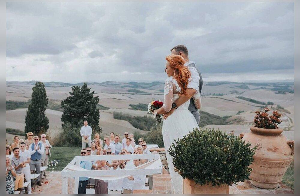 PULMAFOTO: Tanja ja Mikk abiellusid imekaunis Toscana villas