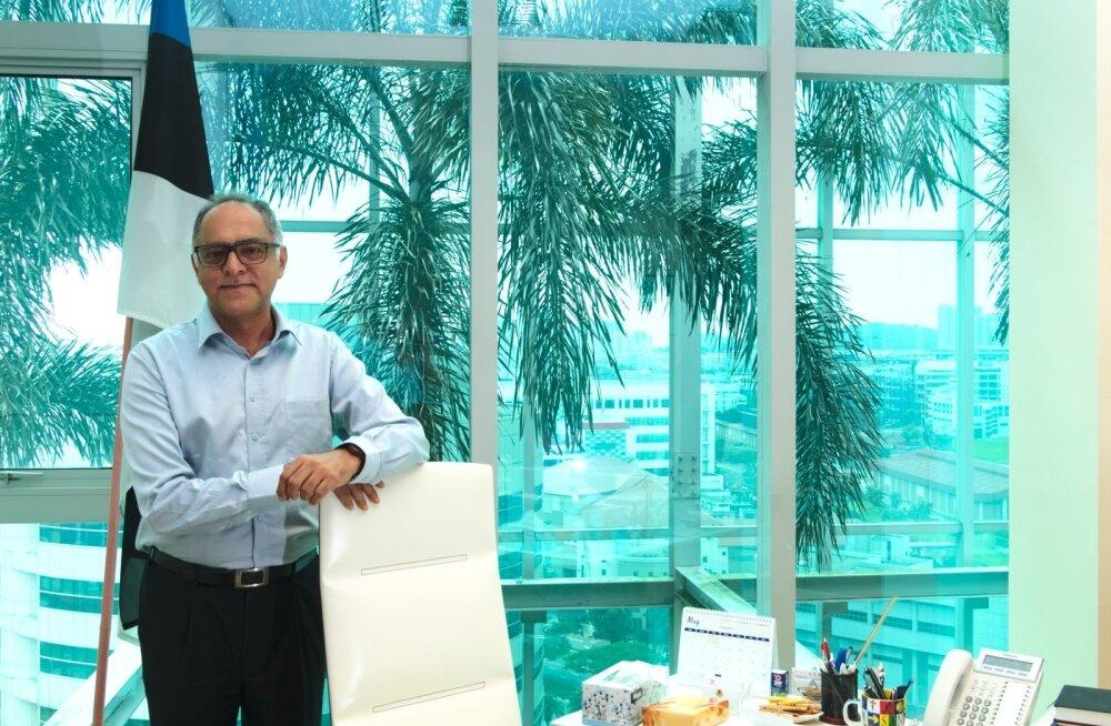 """""""Olen olnud päris valiv, aga olen päris mitmesse Eesti ettevõttesse investeerinud,"""" ütleb Eesti aukonsul Singapuris Sonny Aswani."""