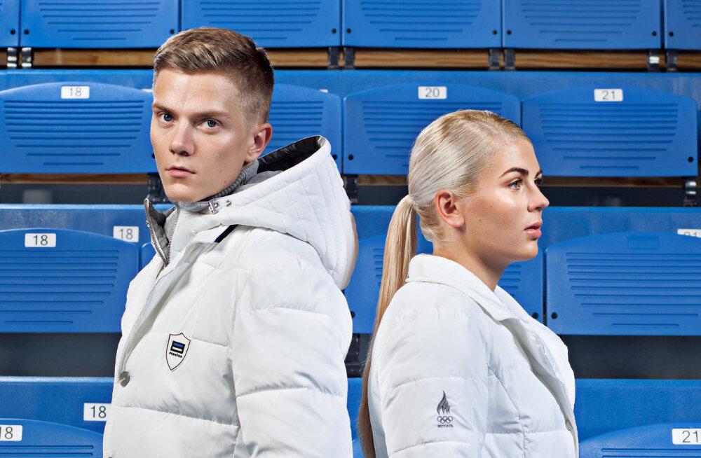 Kristjan Ilves ja Anette Veerpalu olümpiariietes