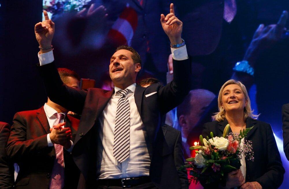 Heinz-Christian Strache, Marine Le Pen