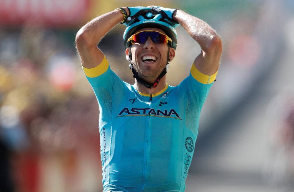 VIDEO | Tanel Kangerti meeskonnakaaslane võitis Tour de France'i etapi, Geraint Thomas jätkab liidrina