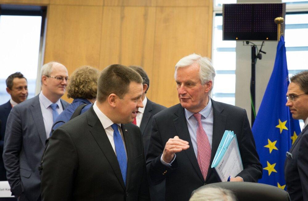 Jüri Ratas ja Michel Barnier