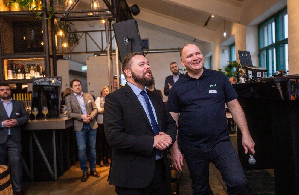 Kaimar Karu ja MCF Estonia juht Kert Evert teisipäevasel andmekeskuse rajamise avaüritusel.