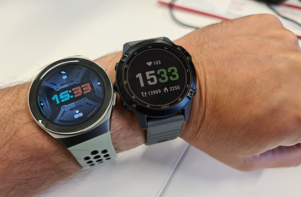 Kes keda: Garmin Fenix 6 Pro Solar vs Huawei Watch GT 2e