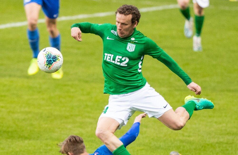 Skandaalne mäng: Tammeka jalgpallur ähvardas Konstantin Vassiljevi põlved purustada