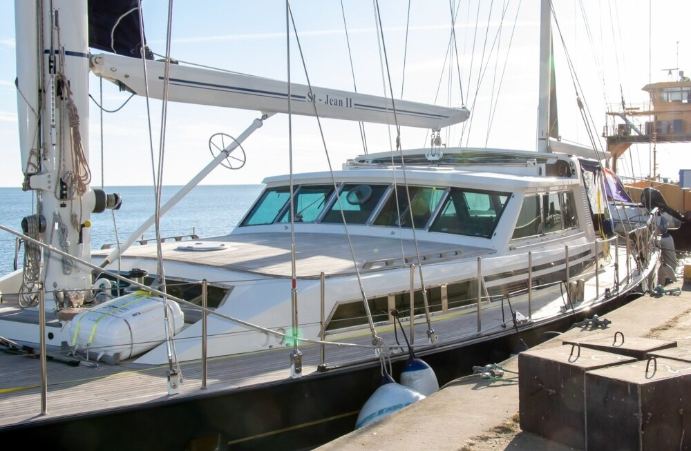 ФОТО: На Сааремаа прибыл парусник, на котором летом этого года эстонская команда отправится в антарктическую экспедицию