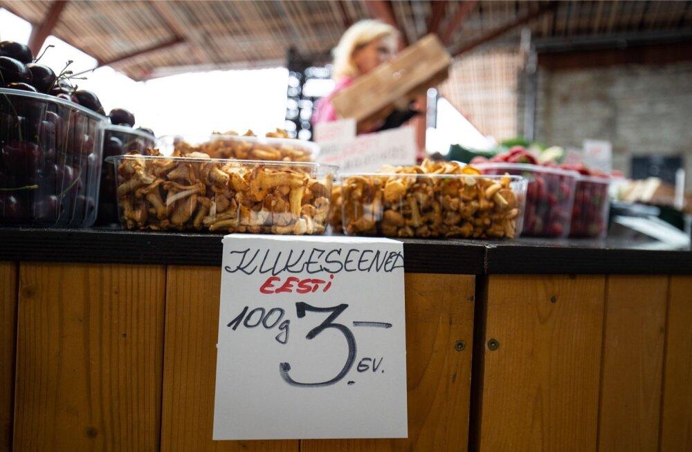 Balti jaama turult sai juba pärast jaanipäeva kukeseeni osta.
