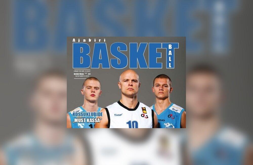 Ajakirja Basketball esikaas, korvpall