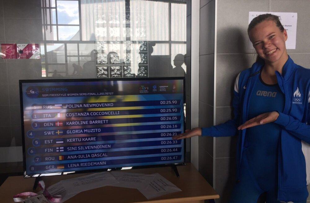 Noorte olümpiafestivalil püstitati uus juunioride Eesti rekord