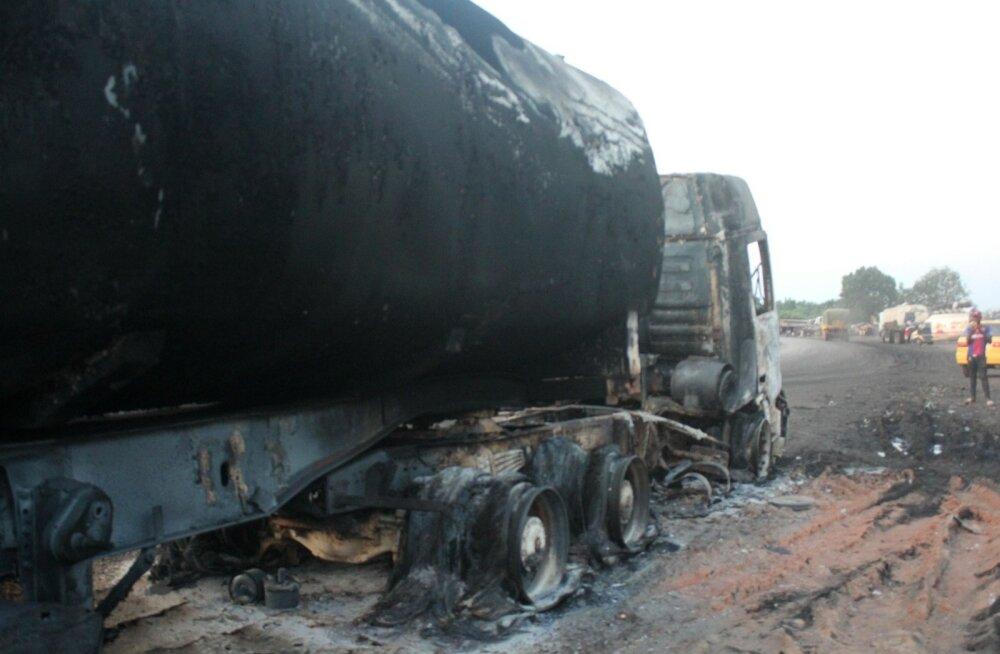 Kongo DV-s hukkus kütuseveoki süttimise järel vähemalt 53 inimest