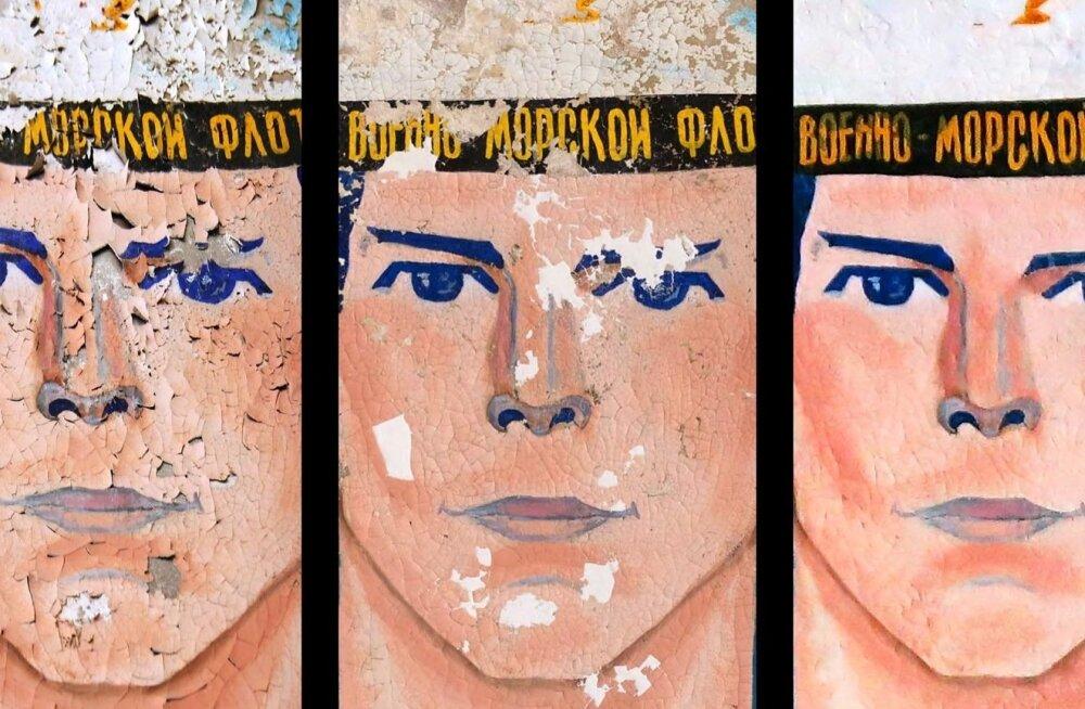 ФОТО: Реставраторы привели в порядок портрет советского моряка на Найссаар и назвали его Альфонсо
