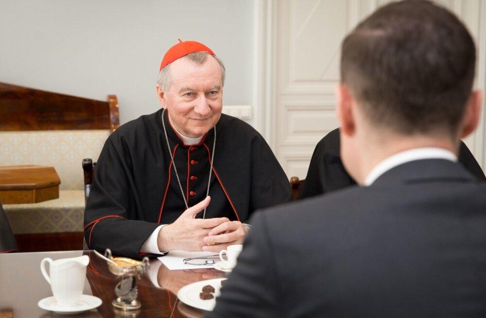 Peaminister kohtus Püha Tooli riigisekretäri kardinal Pietro Parolin'iga