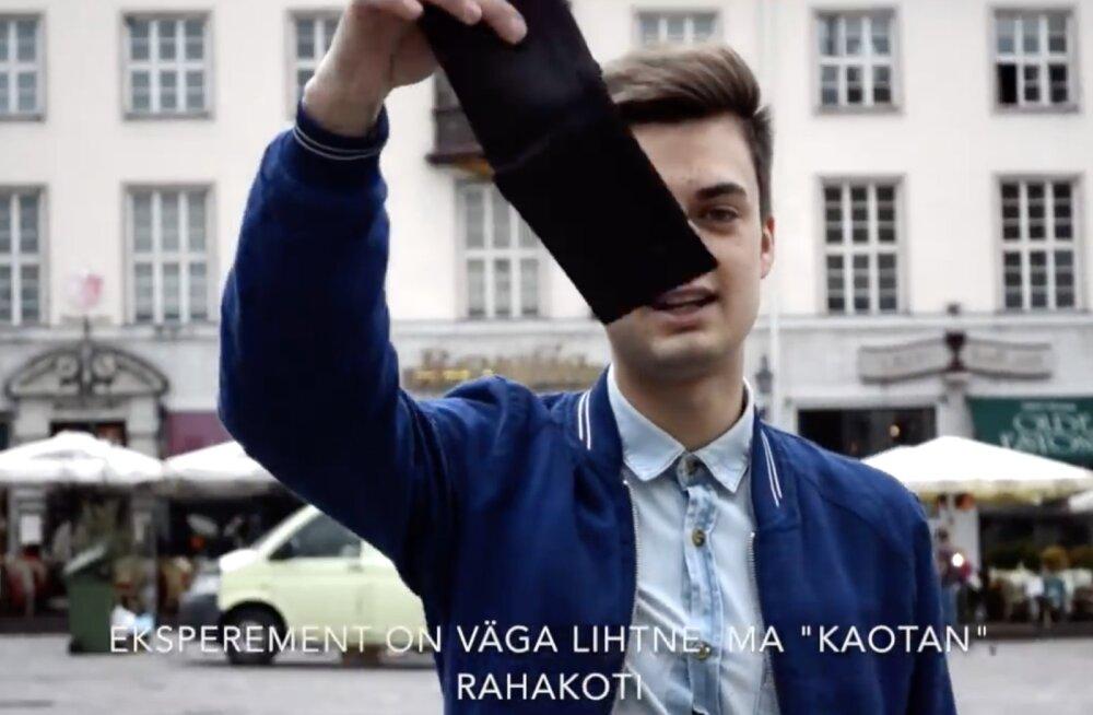 VIDEO | Hämmastav tulemus! Tallinna noormees korraldas eksperimendi - kuidas reageerivad möödakäijad, kui kaotad rahakoti