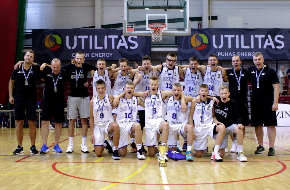 Hea tulemus! Eesti noormeeste U15 korvpallikoondis lõpetas Balti matši teise kohaga