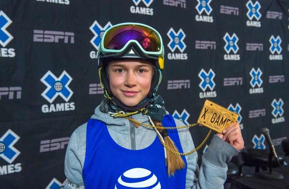 Kelly Sildaru Aspenis võitmas