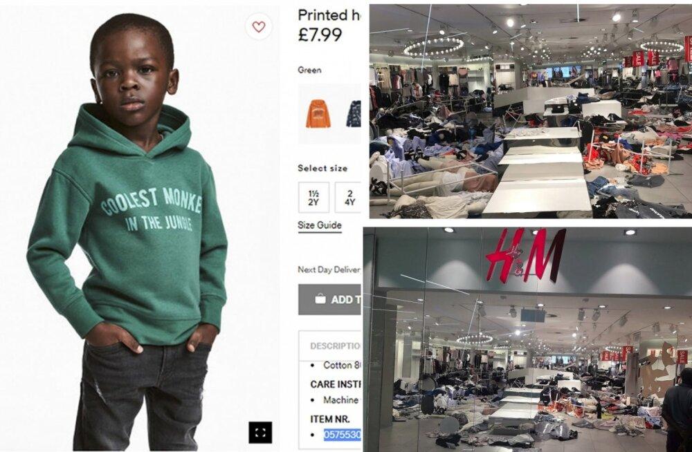ВИДЕО: Протестующие громят магазины H&M из-за расистской рекламы