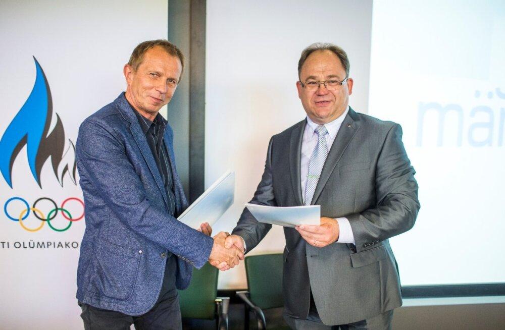 Eesti Kultuurkapitali juhataja Olavi Laido ja Eesti Olümpiakomitee president Neinar Seli