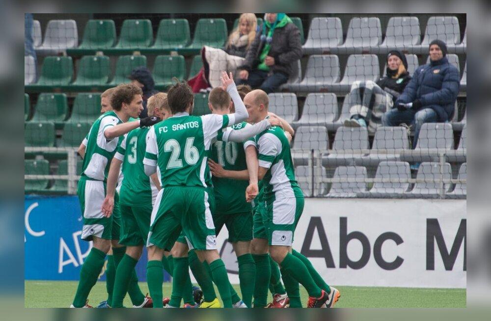 Jalgpall Emmaste - Tartu Santos