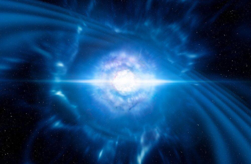 Nii sünnivad kuld ja plaatina: esmakordselt tuvastati neutrontähtede kokkupõrke tulemusena tekkinud gravitatsioonilained