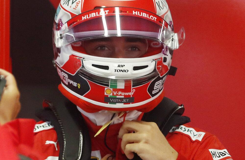 Leclerc näitas teist vabatreeningut järjest kiireimat aega