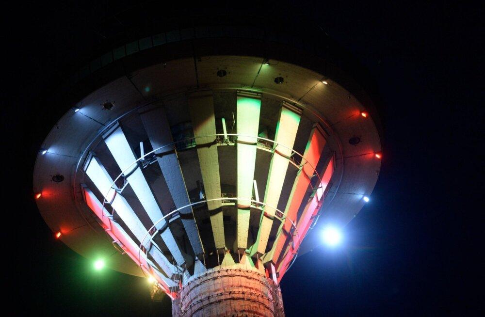 Tallinna teletorn värvus Belgia lipu värvidesse
