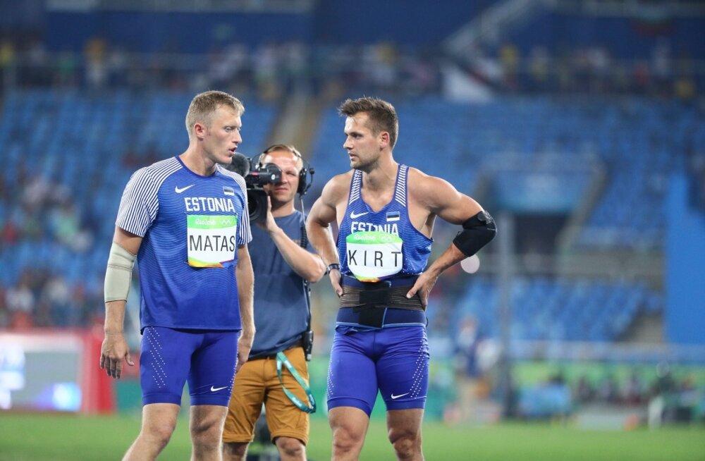 Mätas ja Kirt mullu Rio de Janeiro olümpial. Treeneri ja treenitava teed läksid lahku, mõlemad jätkavad sportlastena, sel hooajal suurema hooga kui kunagi varem.