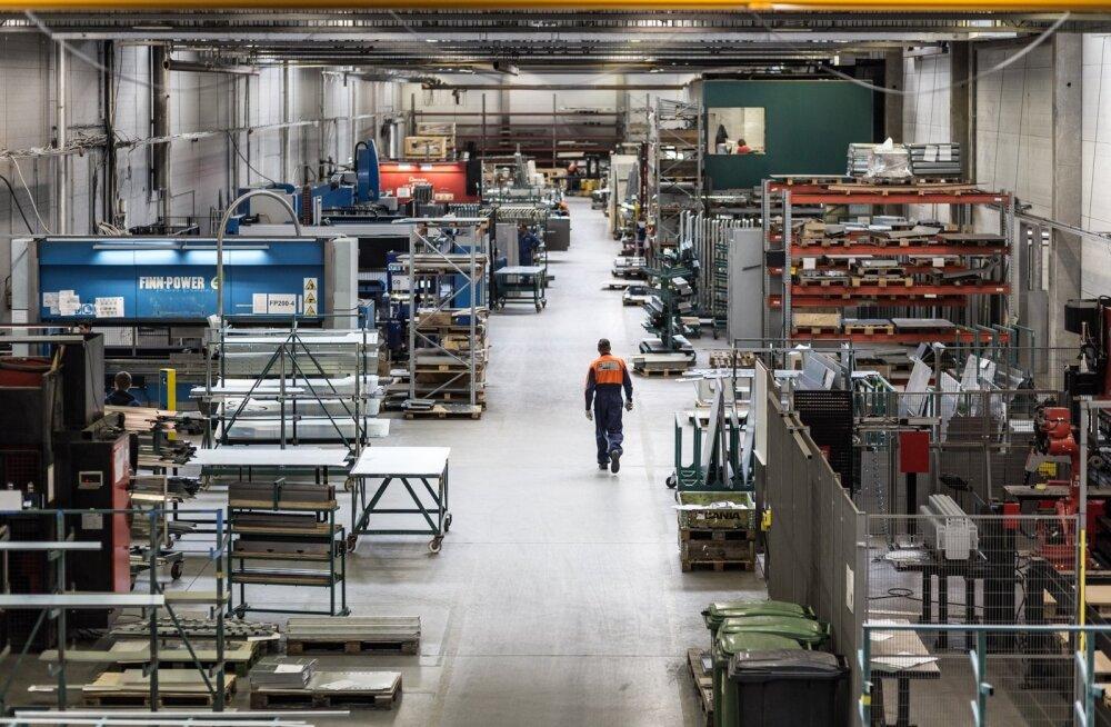 Masina- ja metallitööstus on suurim töötleva tööstuse tööandja.