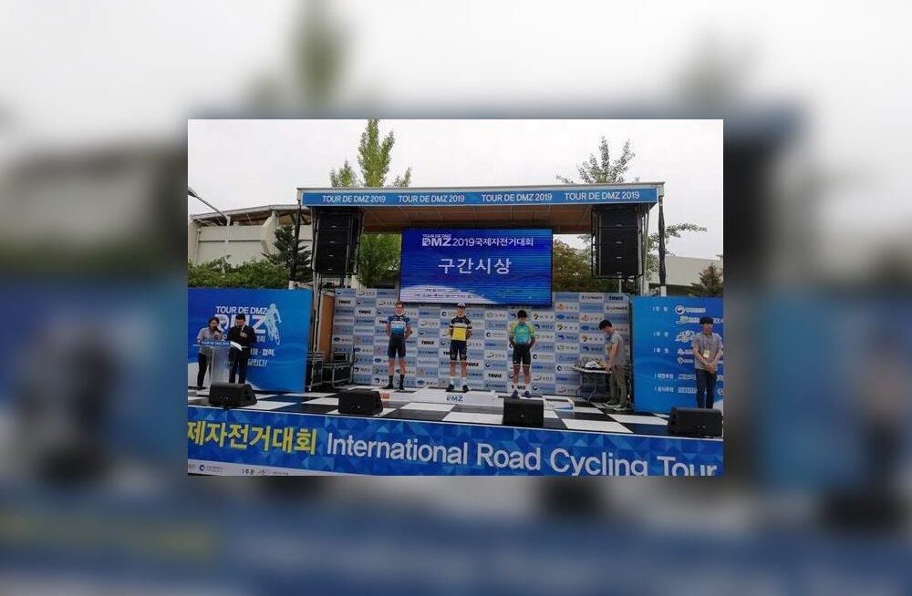 Joonas Kurits saavutas Korea velotuuri etapil teise koha