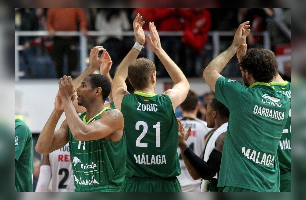 Malaga Unicaja mängijatel on põhjust rahuloluks, Euroliiga, korvpall