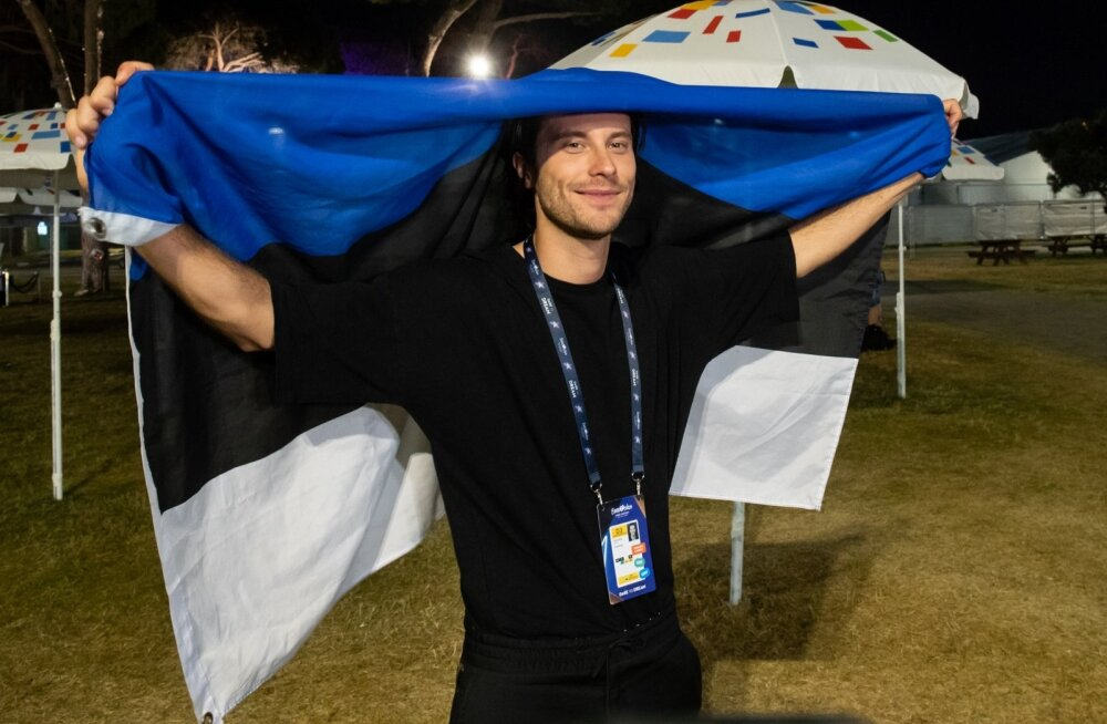 Victor Crone pressikonverentsil pärast esinemist Eurovisioni suures finaalis