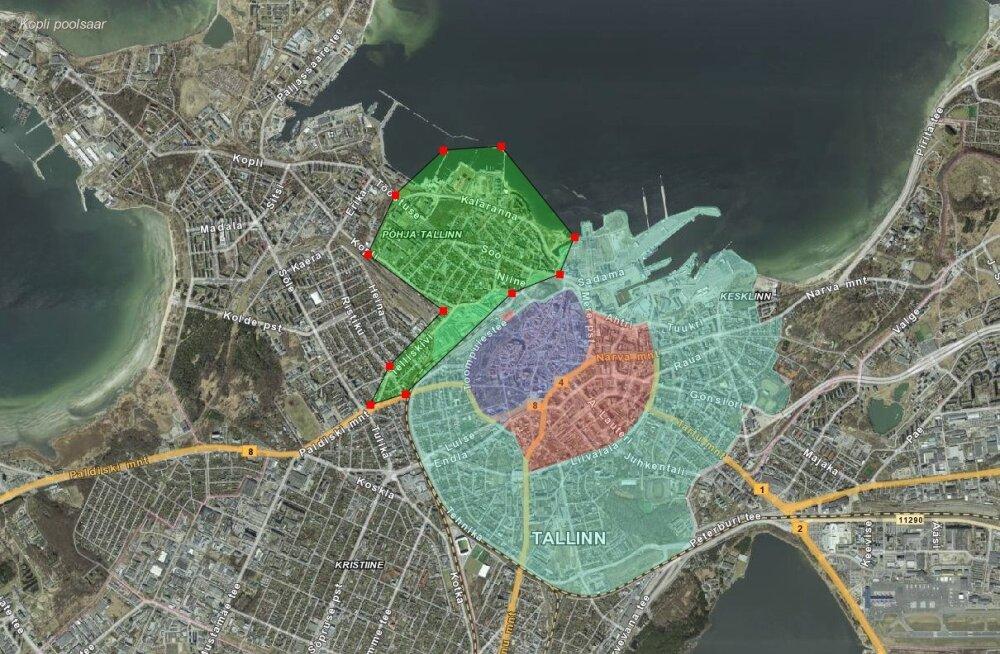 Põhja-Tallinna valitsus kaalub Tallinna Kesklinna tasulise parkimisala laiendamist Kalamajja ja Kelmikülla