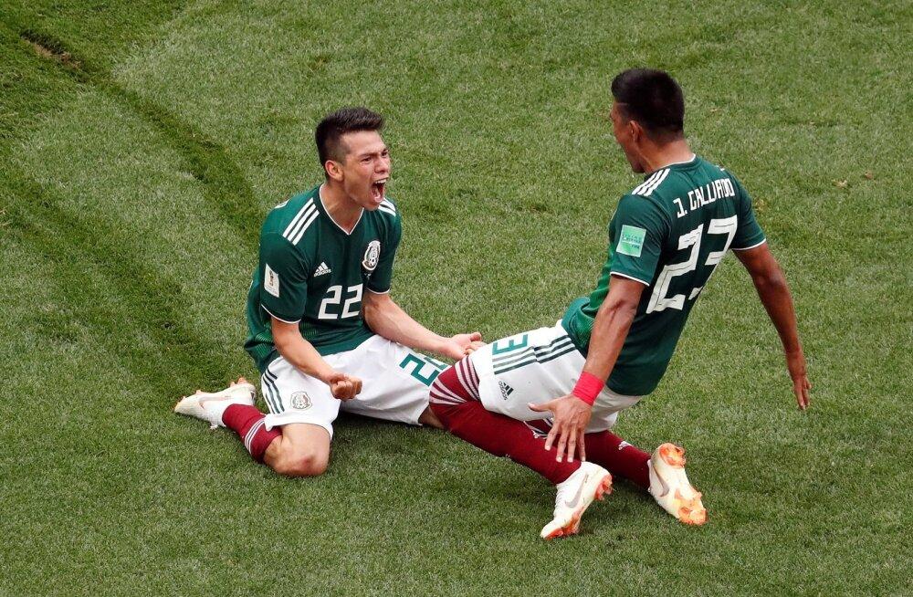 Hirving Lozano (vasakul) viis Mehhiko Saksamaa vastu juhtima.
