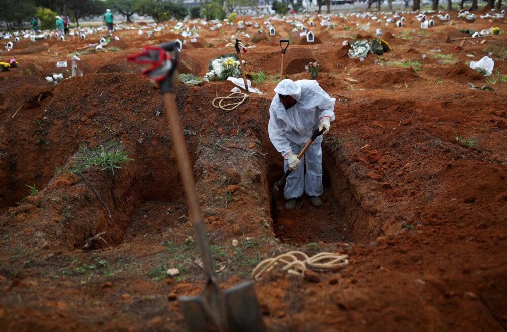 Brasiilia ja India jõudsid koroonaviirusesse nakatunute arvuga vastavalt kahe miljoni ja miljonini