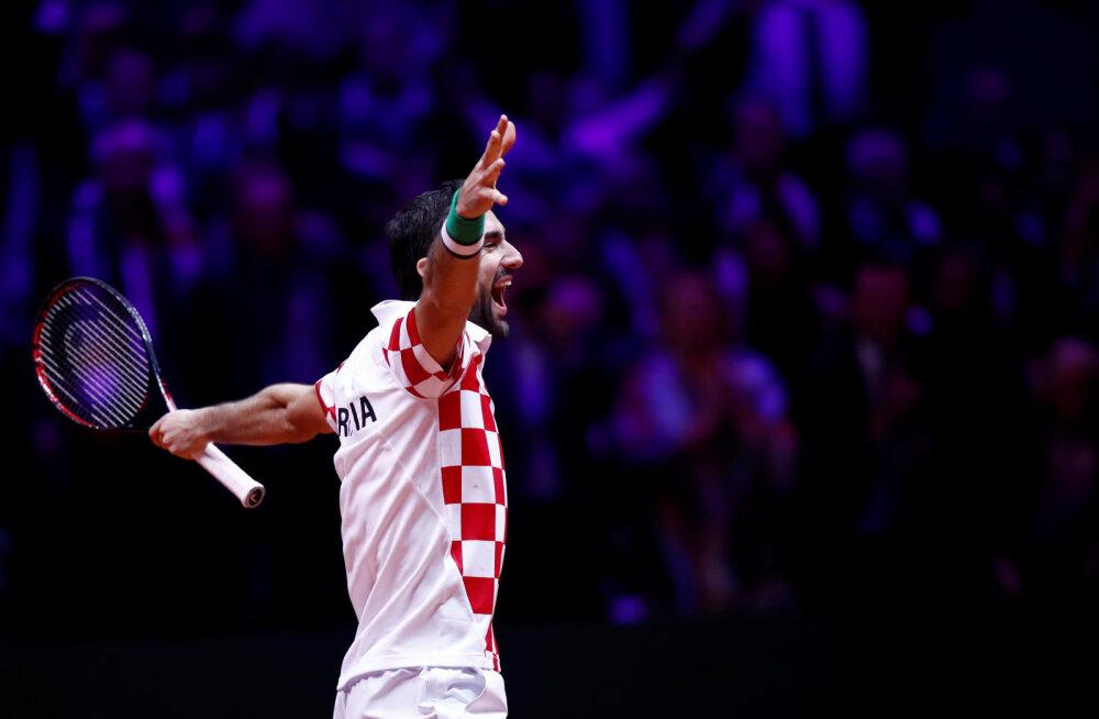 VIDEO | Horvaatia võitis Prantsusmaa karukoopas teise Davis Cupi tiitli