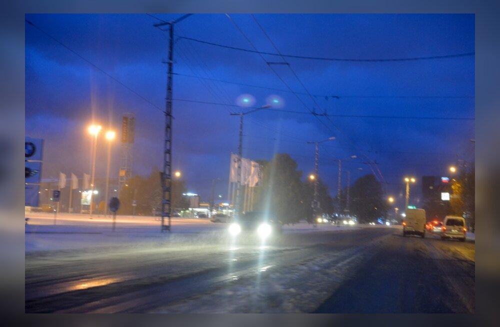 Ettevaatust, teedel esineb musta jääd!