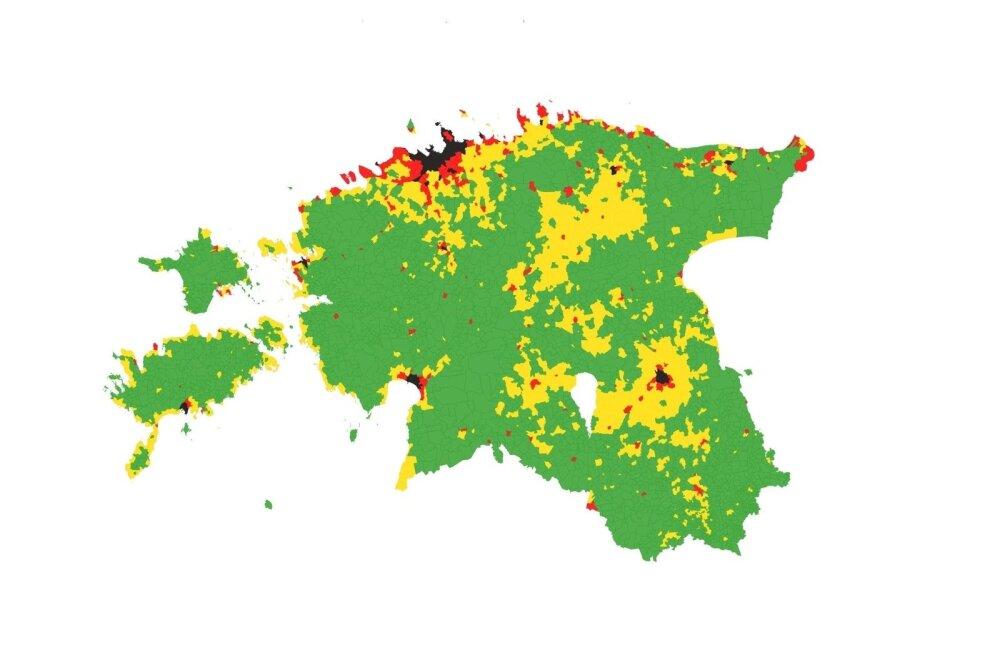 Maa keskmine maksustamishind külade ja linnade kaupa