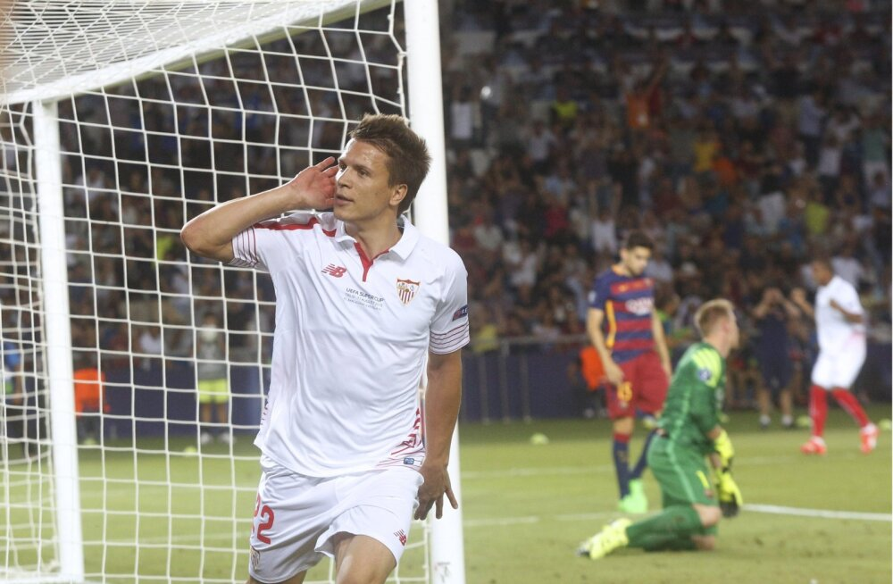 Jevgeni Konopljanka (Sevilla) lööb värava