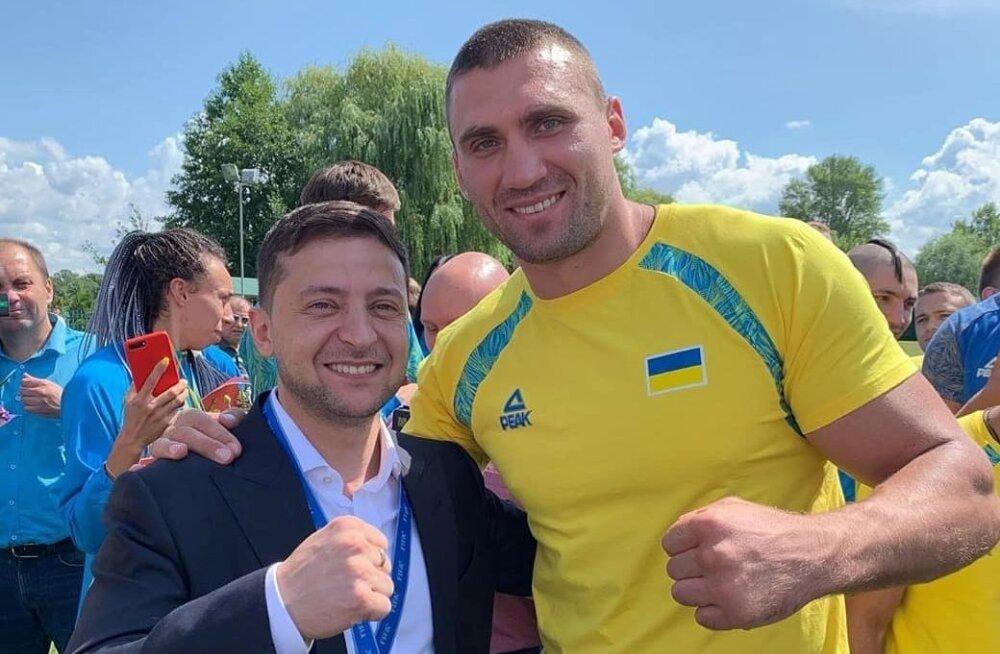 Vladimie Zelenski ja Viktor Vykhryst