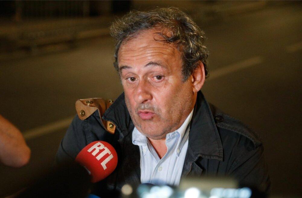 Michel Platini pidi taas küsimustele vastama.