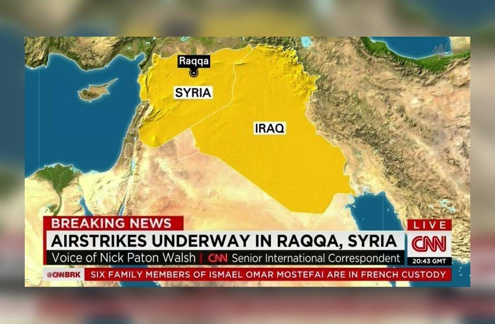 """Французские ВВС нанесли удар по столице """"Исламского государства"""""""