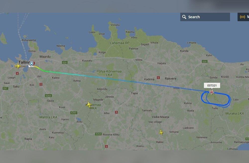 KAART | Tallinnast Peterburi suundunud Nordica lennuk tegi Ida-Virumaa kohal aega parajaks, põhjuseks Delfi andmeil Vene sõjajõudude õppus