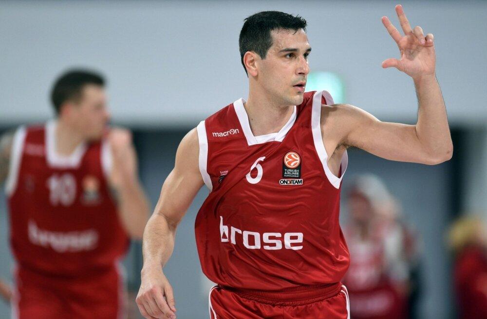 Bamberg Brose Basketsi tagamängija Nikos Zisis