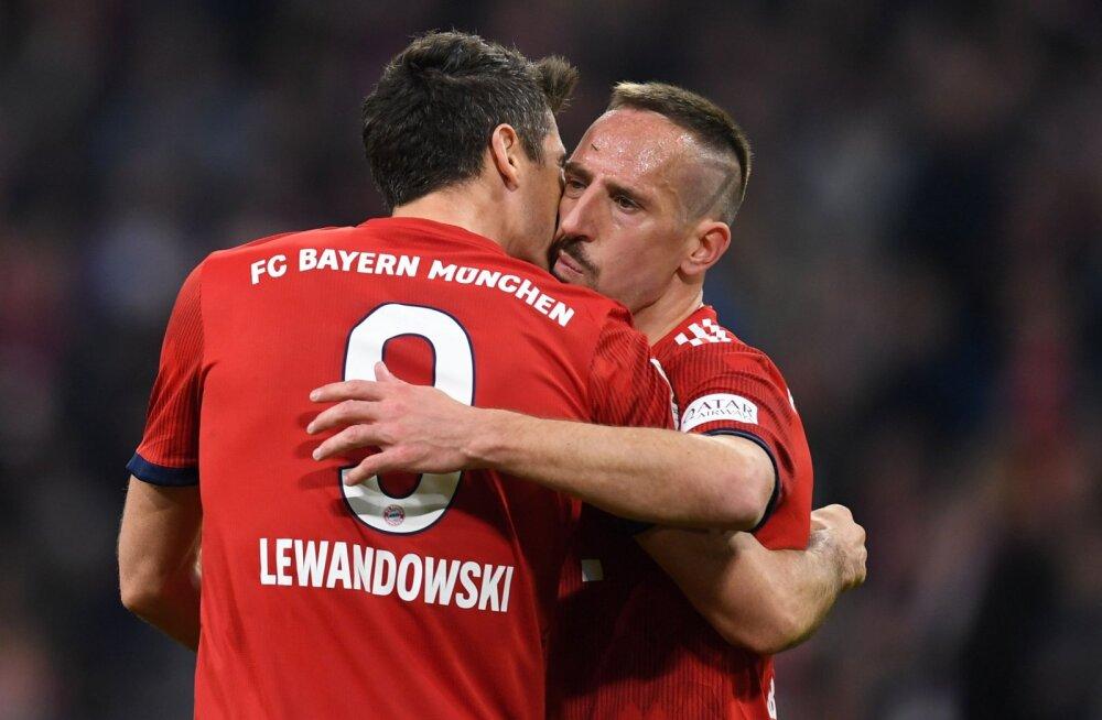 Robert Lewandowski ja Franck Ribery