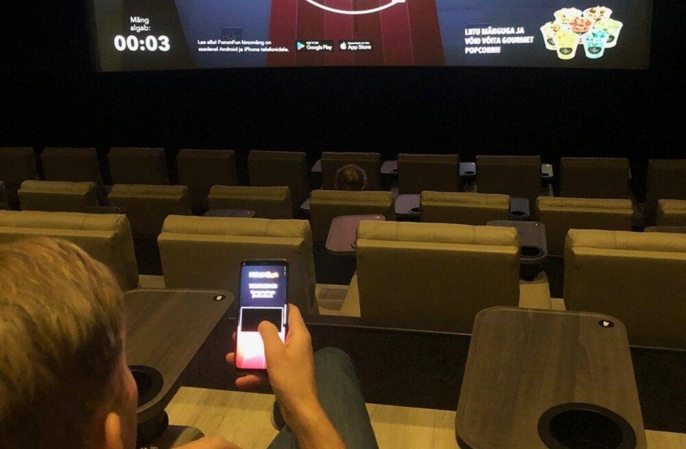 Kinofilmide eel saab Forum Cinemas kinodes mängida interaktiivset mängu