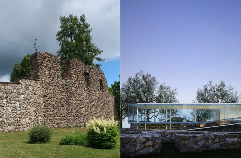 ФОТО DELFI: Средневековый замок в Латвии хотят превратить в футуристическое здание