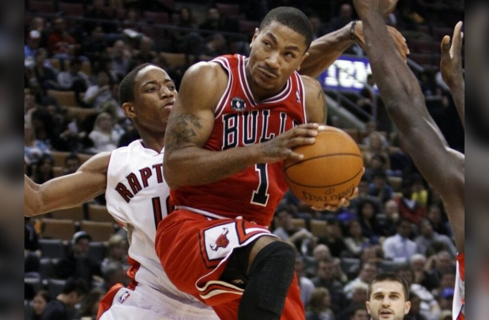 NBA TOP 10: esikohal Bullsi viskemasin Derrick Rose